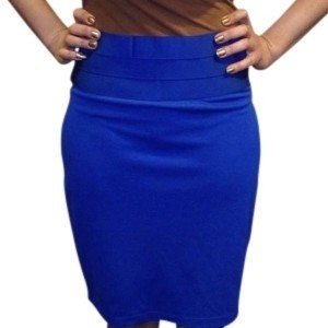 Max Studio Skirt Cobalt Blue