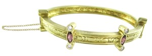 18KT SOLID YELLOW GOLD BANGLE BRACELET 8 GENUINE DIAMOND .64 CARAT NO SCRAP LUX