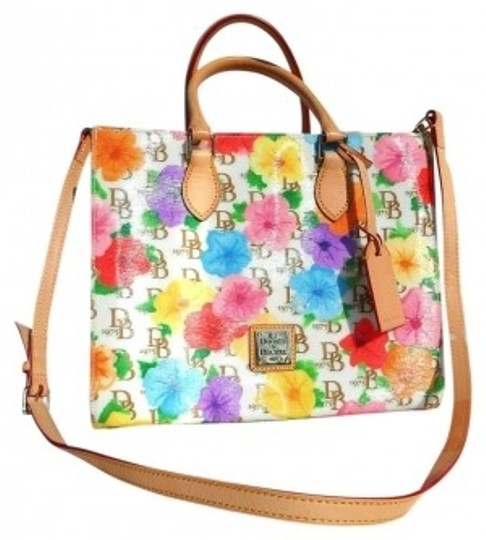 Preload https://item1.tradesy.com/images/dooney-and-bourke-floral-janine-multi-colored-coated-cotton-satchel-127820-0-0.jpg?width=440&height=440