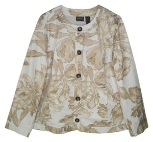 Chico's Floral Cotton Sateen Spring Jacket
