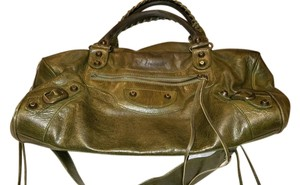 Balenciaga Satchel in Olive Green