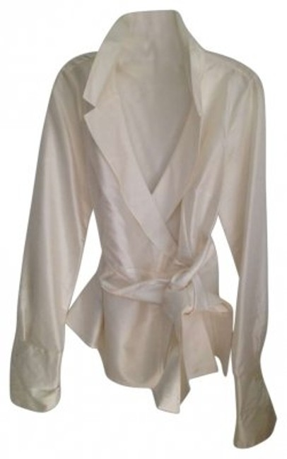 Preload https://item5.tradesy.com/images/ann-taylor-ivory-silk-wrap-blouse-size-petite-0-xxs-127824-0-0.jpg?width=400&height=650