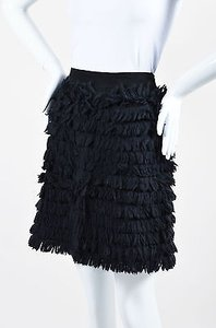 Moschino Jeans Tiered Mini Skirt Black