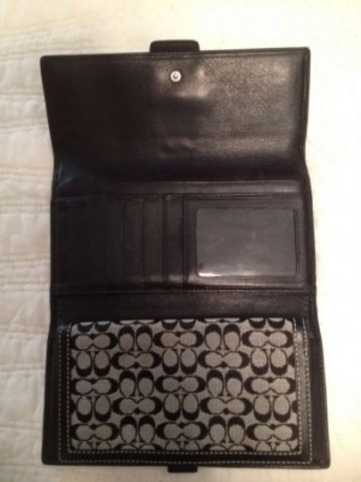 Coach Black and blue coach wallet