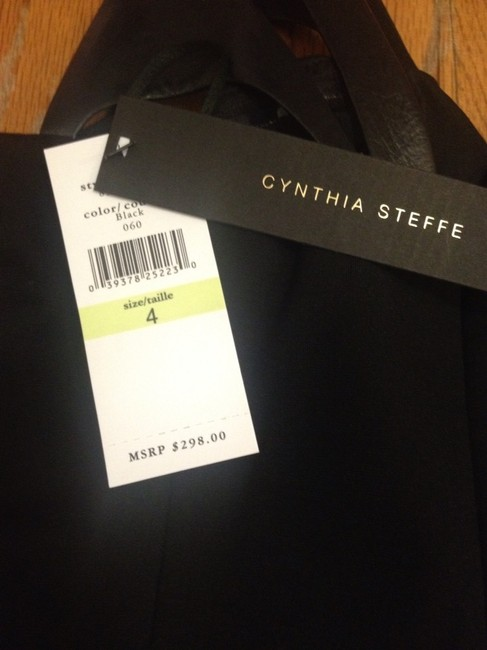 Cynthia Steffe Lbd Leather Little Chic Dress