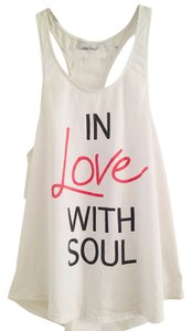 SoulCycle White, Drop Sleeve, Racerback, Love