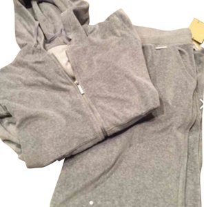 Michael Kors Jacket & Pants Set By MK In Gray Velour