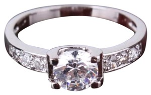 Beautiful Swarovski Crystal and CZ 18K White Gold Filled Ring All Sizes