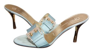 St. John Soft blue w/ gold Pumps