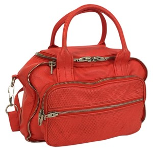 Alexander Wang Leather Shoulder Eugene Satchel in Red