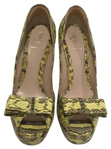 Fendi Yellow Platforms