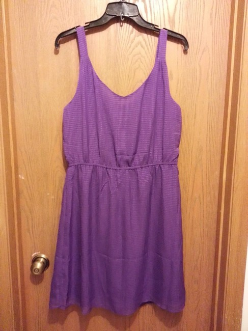 Gap short dress Purple New Without Tags Cute Versatile Slip Sleeveless Front Wide Bands Pullover Style Fully Lined on Tradesy