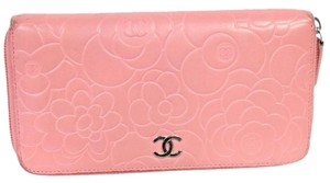 Chanel CHANEL 2.55 Camellia Pink Floral Quilted Lambskin CC Chrome Long
