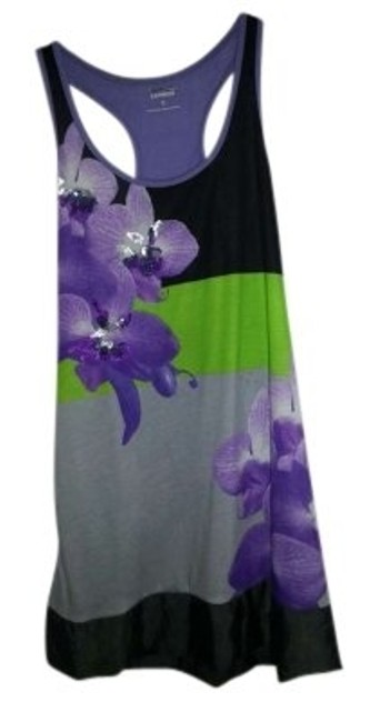 Express short dress Purple Green Black on Tradesy