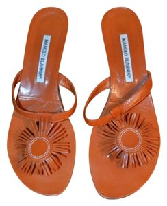 Manolo Blahnik Orangey brown Sandals