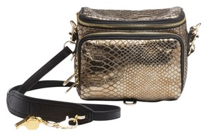 Cynthia Rowley Camera Snakeskin Cross Body Bag