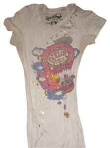 Scrapbook T Shirt White With Graphic Design On Front.