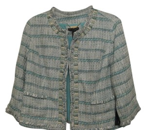 Chico's GREEN AND WHITE Jacket