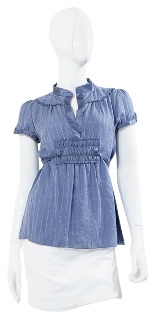 Preload https://item2.tradesy.com/images/marc-jacobs-blue-striped-semi-sheer-short-sleeve-blouse-size-2-xs-1278711-0-0.jpg?width=400&height=650