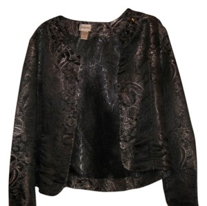 Chico's Evening Daytime BLACK AND SILVER Jacket