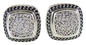 David Yurman David Yurman Sterling Silver 11mm Pave Diamond Albion Earrings