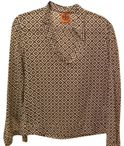Tory Burch Top Beige And Brown