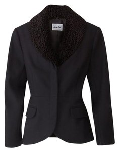 Steven Alan Faux Collar Jacket Black Blazer