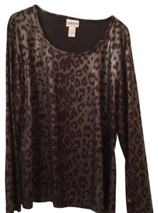 Chico's Button Down Shirt Animal Print