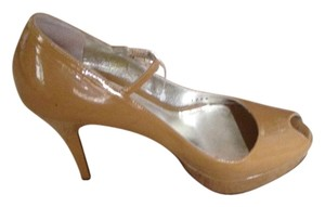 Dolce&Gabbana Pumps Mary Jane Italy Tan Beige Nude Platforms