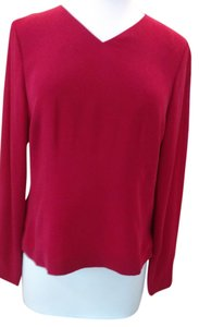 Talbots Silk Lined Side Invisable Zipper Top Red