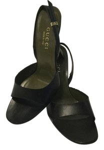 Gucci All Leather Italian Black Sandals