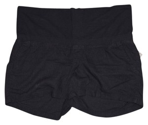 Old Navy NWT Old Navy Maternity Roll-Over navy blue linen blend shorts size Medium NEW