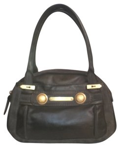 Juicy Couture Leather Suede Satchel in Olive Green