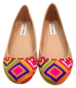 Steve Madden Tan/Multi-colored Flats