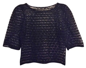 American Apparel Lace Top Black