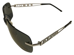 Fendi Fendi Silver Metal Sunglasses with Rhinestones