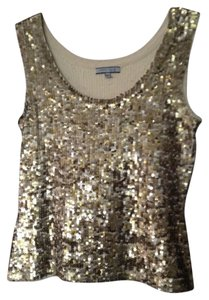 Anne Klein Sequin Stretchy Top NWT GOLD