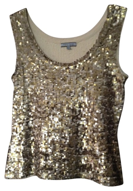 Item - New Sequin Tank Stretchy Gold Top