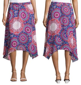 Laundry by Shelli Segal Skirt Blue Pink Red