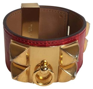 Hermès Hermes Red Alligator Collier De Chien