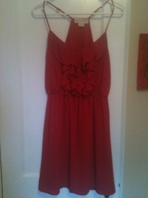 Preload https://img-static.tradesy.com/item/127901/michael-kors-red-knee-length-cocktail-dress-size-6-s-0-0-650-650.jpg