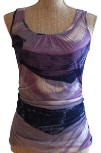 Kenneth Cole Silk Silk Top Shades of Purple