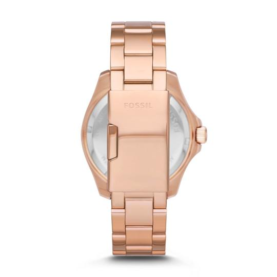 Fossil BNWT Fossil AM4549 Cecile Orchid Pink Rose Gold Women Watch