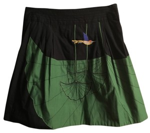 Anthropologie Mini Skirt Black/green