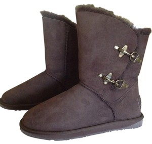 Australia Luxe Collective Lux Leather Shearling Brown Boots