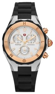 Michele Brand New Jelly Bean 2 TONES rose gold - silver/ black Watch