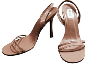 Frederico Leone Tan Pageant Prom Wedding Nude Sandals
