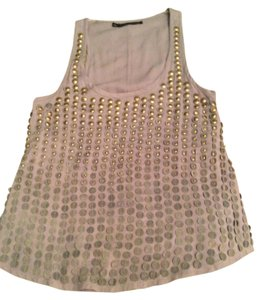 Patterson J. Kincaid Studded Tank Out Date Night Top Gray