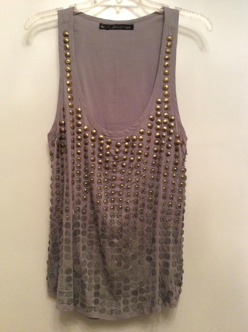 Patterson J. Kincaid Studded Tank Date Top Gray