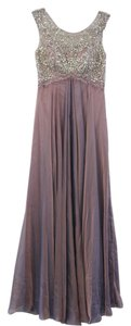 Morrell Maxie Chiffon Prom Evening Bronze Dress